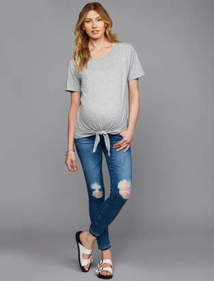 AG Jeans Pea Collection Secret Fit Belly Farrah Skinny Ankle Maternity Jeans