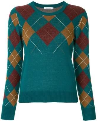 GUILD PRIME argyle knit sweater