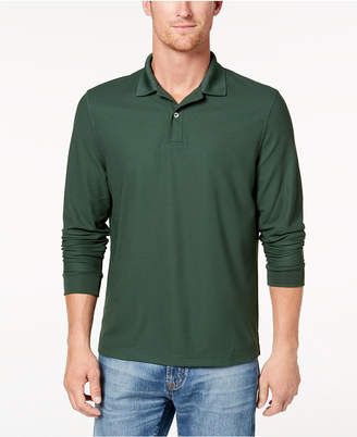 Club Room Men's Long-Sleeve Polo