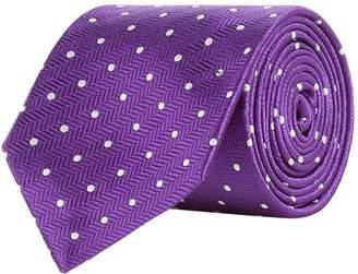 Turnbull & Asser Herringbone Spot Tie