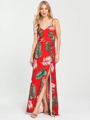 Very Wrap Split Front Maxi Dress - Floral Print