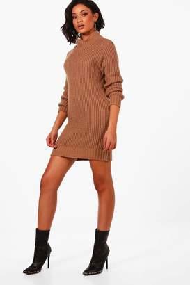 boohoo Maria Turtle Neck Soft Knit Jumper Dress