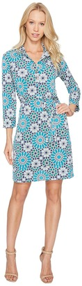 Donna Morgan - 3/4 Sleeve Jersey Shirtdress Women's Dress $89 thestylecure.com