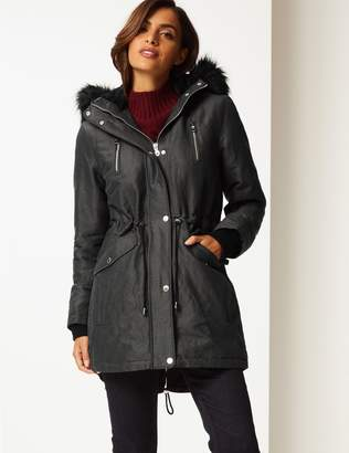 Marks and Spencer Metallic Zipped Parka with Stormwear