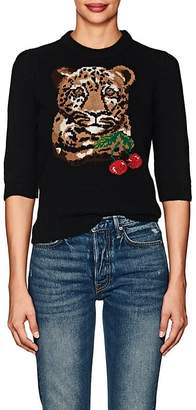 Dolce & Gabbana Women's Tiger-Knit Virgin Wool-Cashmere Sweater