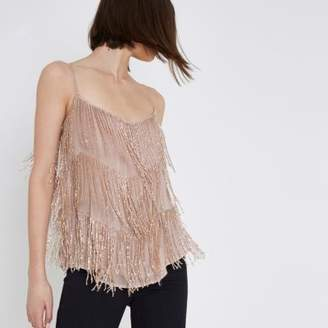 River Island Pink beaded cami top