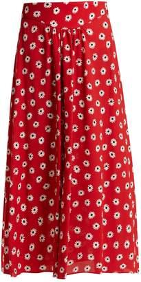 Miu Miu Daisy-print midi skirt