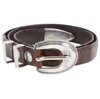 J&M Davidson J & M Davidson Brown Alligator Belts