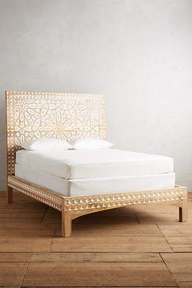 Anthropologie Handcarved Albaron Bed