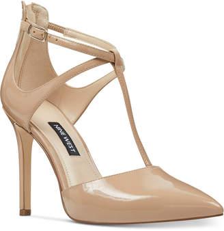 Nine West Women Teresa T-Strap Pumps Women Shoes