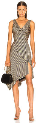 Jonathan Simkhai Striped Twist Midi Dress