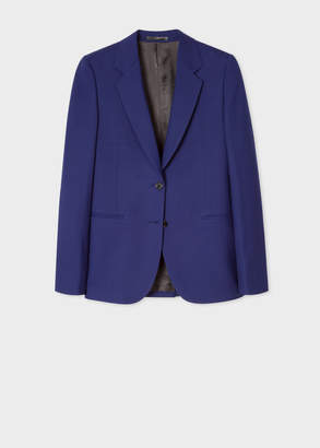 Paul Smith A Suit To Travel In - Women's Cobalt Blue Two-Button Wool Blazer