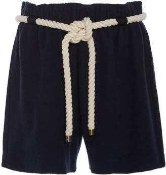 Monse Terry Mid-Length Cotton Shorts