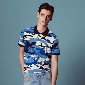 Sandro Camouflage printed polo shirt