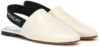Givenchy Leather slingback slippers