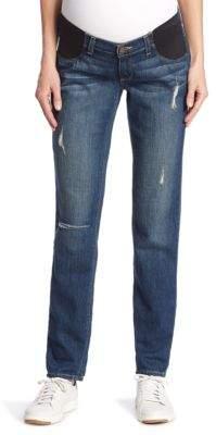 Paige Jimmy Jimmy Distressed Cuffed Maternity Jeans