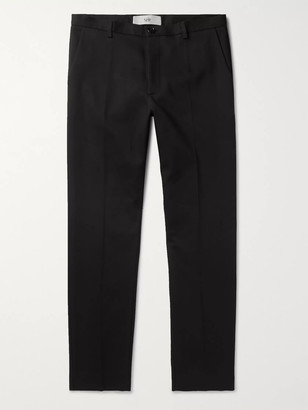Séfr Harvey Tapered Cotton-Blend Trousers - Men - Black