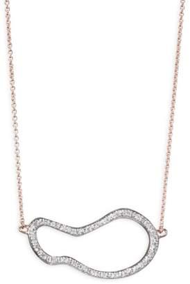 Monica Vinader Riva Diamond Pod Pendant Necklace/Rose Goldtone