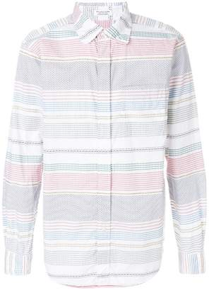 Engineered Garments Dobby stripe shirt