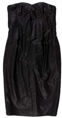 Robert Rodriguez Metallic Bustier Dress