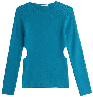 Emilia Wickstead Wool Pullover with Cut-Out Sides