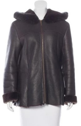 Andrew Marc Shearling Hooded Jacket $280 thestylecure.com