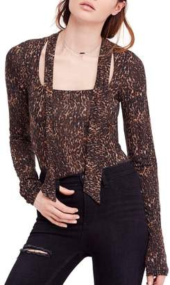 Free People Wild Thing Leopard Print Top