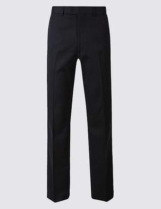 Marks and Spencer Navy Tailored Fit Trousers