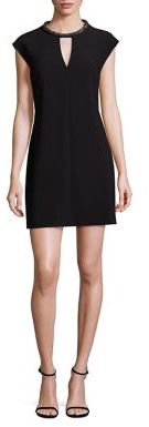 Laundry by Shelli Segal Embellished Shift Dress $195 thestylecure.com