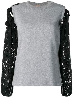 No.21 lace detailed sweatshirt