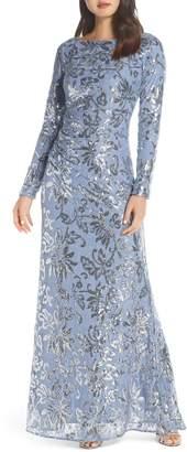 Vince Camuto Lace & Sequin Evening Dress