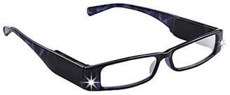 LIGHTSPECS LP Ultra Bright LED Lighted Lightweight Rectangular Reading Glasses