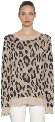 R 13 Oversized Leo Intarsia Cashmere Sweater