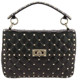 Valentino GARAVANI Handbag Rockstud Spike Medium Bag In Genuine Leather With Micro Studs And Sliding Shoulder Strap