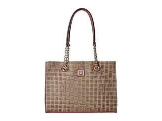 Anne Klein Lion Logo Chain Tote Tote Handbags