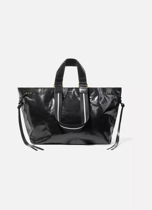 Isabel Marant Wardy Glossed-leather Tote - Black