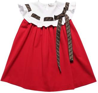 Fendi Milano Jersey & Neoprene Dress