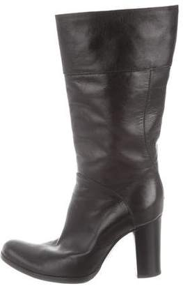 CNC Costume National Leather Round-Toe Boots