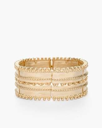 Textured Gold-Tone Stretch Cuff