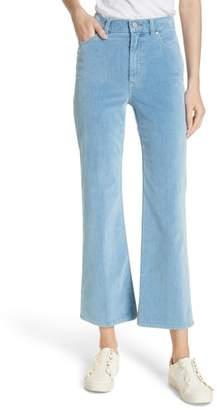 Rebecca Taylor Ines Kick Bootcut Velveteen Jeans