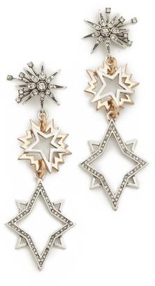 Lulu Frost Cosmic Earrings $250 thestylecure.com