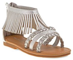 Laura Ashley Toddler Girls' Fringe Ankle Cuff Sandals $40.99 thestylecure.com