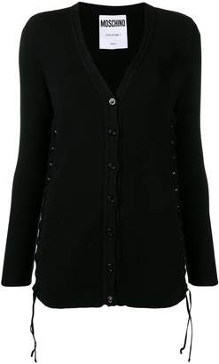 Moschino lace-up detailed cardigan