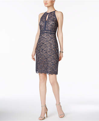 Night Way Nightway Lace Keyhole Sheath Dress