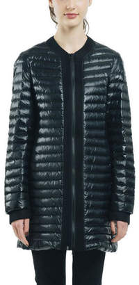 Snowman New York Manner Mesh Trim Down Jacket