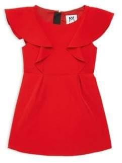 Milly Minis Little Girl's& Girl's Ruffle Cap-Sleeve Dress