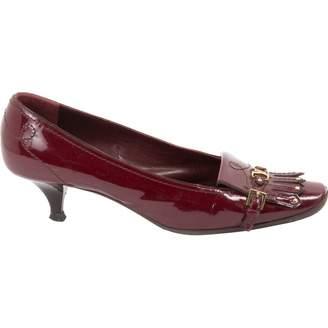 Louis Vuitton Burgundy Patent leather Heels
