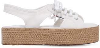 Superga 40mm Canvas Platform Sandals