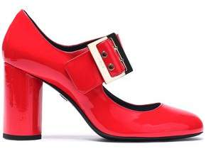 Lanvin Buckled Patent-Leather Pumps