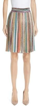 Missoni Metallic Stripe Knit Skirt